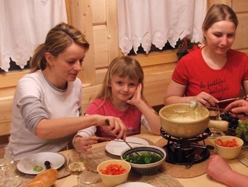 kolacja z fondue..